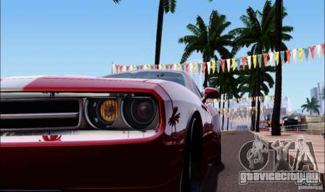 Dodge Challenger Rampage Customs для GTA San Andreas вид сзади