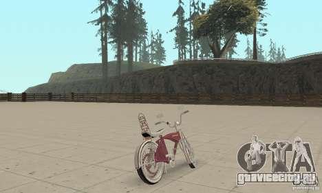 Lowrider Bicycle Custom Version для GTA San Andreas вид слева