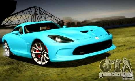 Dodge Viper SRT  GTS для GTA San Andreas вид слева