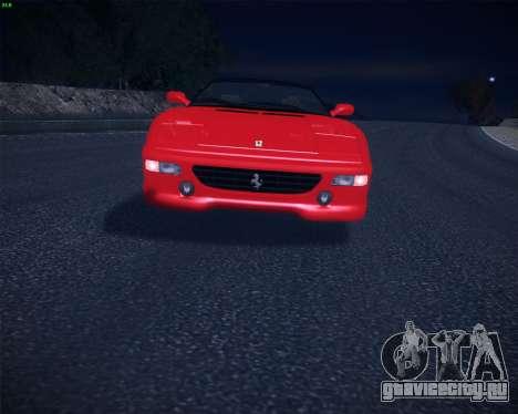 Ferrari F355 Spyder для GTA San Andreas вид справа