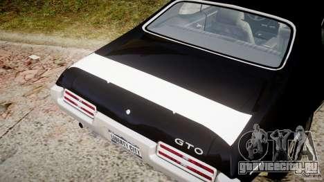Pontiac GTO Judge для GTA 4 вид снизу