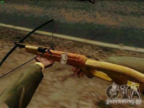 Рабочий арбалет со стрелами для GTA San Andreas третий скриншот