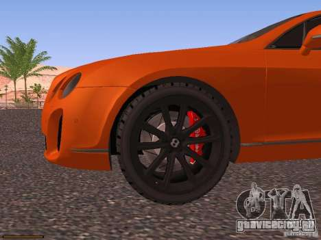 Bentley Continetal SS Dubai Gold Edition для GTA San Andreas вид сверху