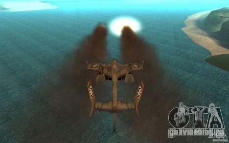 Косатка air Command & Conquer 3 для GTA San Andreas вид сзади