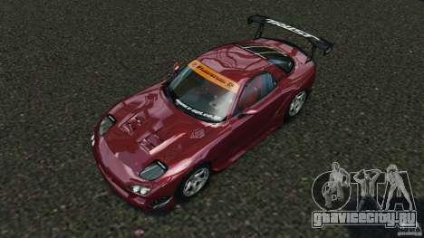 Mazda RX-7 RE-Amemiya v2 для GTA 4 вид сверху