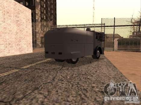 Полицейский водомет Rosenbauer для GTA San Andreas вид справа
