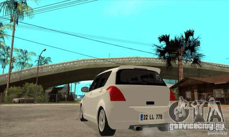 Suzuki Swift 4x4 CebeL Modifiye для GTA San Andreas вид сзади слева
