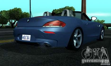 BMW Z4 2010 для GTA San Andreas вид справа