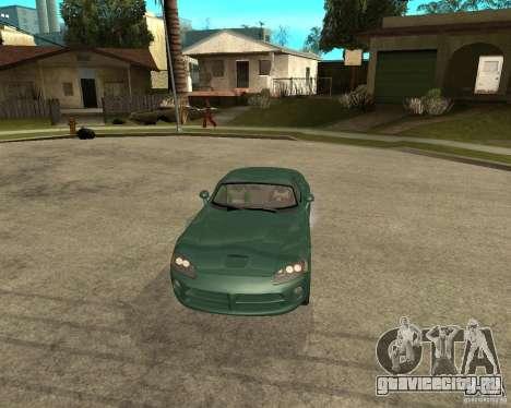 Dodge Viper Srt 10 для GTA San Andreas вид сзади