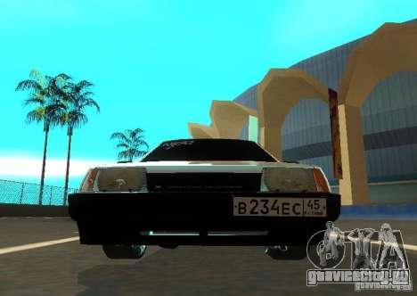 Ваз 2109 ак-47 для GTA San Andreas вид сзади