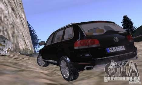 Volkswagen Touareg для GTA San Andreas вид изнутри