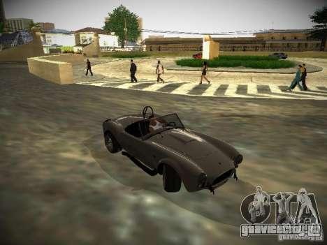Shelby Cobra для GTA San Andreas вид сзади