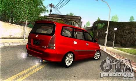 Toyota Kijang Innova 2.0 G для GTA San Andreas вид слева