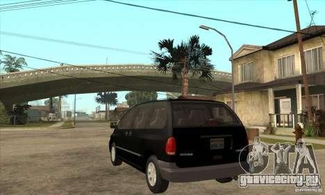 Dodge Caravan 1996 для GTA San Andreas вид сзади слева