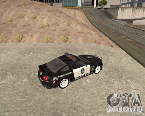 Ford Shelby GT500 2010 Police для GTA San Andreas вид слева