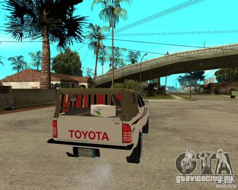 Toyota Hilux 2010 для GTA San Andreas вид сзади слева