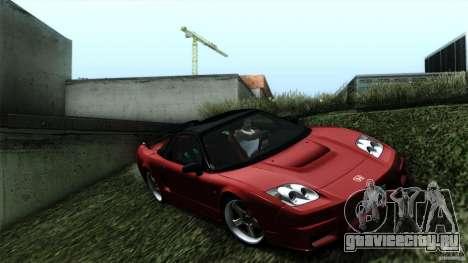 Honda NSX-R 2005 для GTA San Andreas вид сзади слева