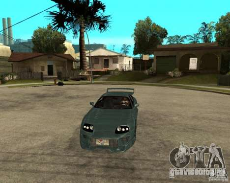Toyota Supra Veilside для GTA San Andreas вид сзади