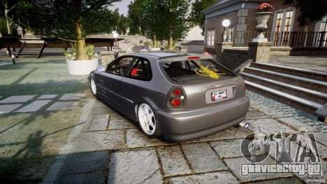 Honda Civic EK9 Tuning для GTA 4 вид сбоку