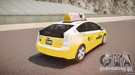 Toyota Prius NYC Taxi 2011 для GTA 4 вид снизу