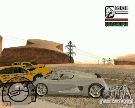 Koenigsegg CC8S для GTA San Andreas вид сзади