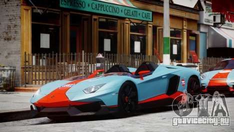 Lamborghini Aventador J 2012 Gulf для GTA 4 вид слева