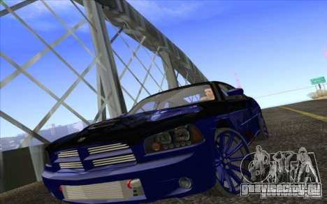 Dodge Charger SRT 8 для GTA San Andreas вид сбоку