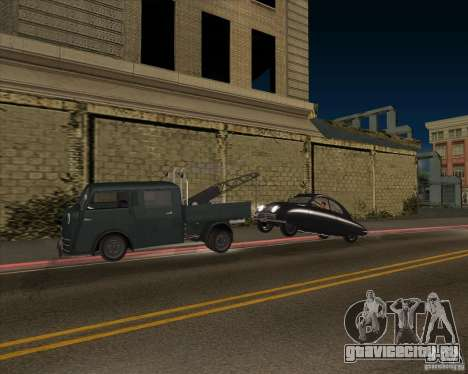 Tempo Matador 1952 Towtruck version 1.0 для GTA San Andreas вид изнутри