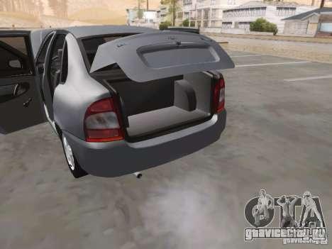 Лада Калина седан для GTA San Andreas вид сверху