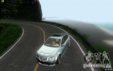 Pontiac G8 GXP 2009 для GTA San Andreas вид сверху