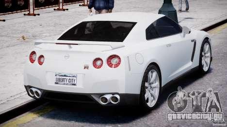 Nissan Skyline GT-R R35 для GTA 4 вид сбоку