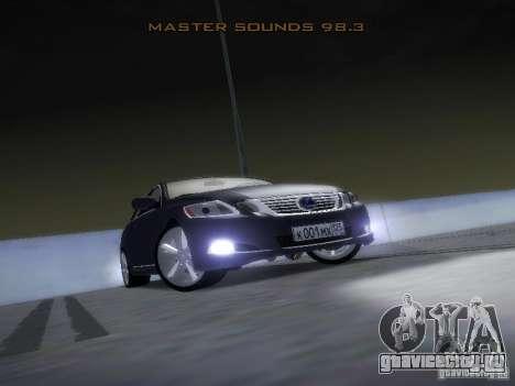 Lexus GS450H для GTA San Andreas вид сбоку