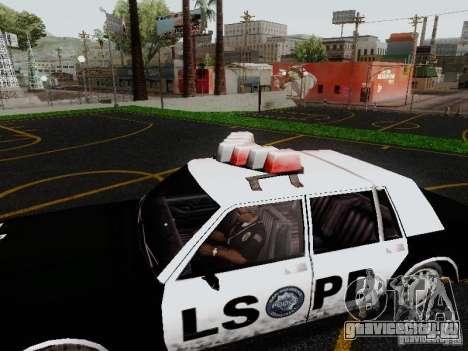 Greenwood Police LS для GTA San Andreas вид справа