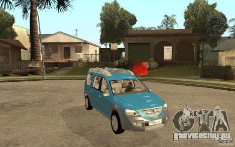 Dacia Logan Steppe Concept для GTA San Andreas вид сзади