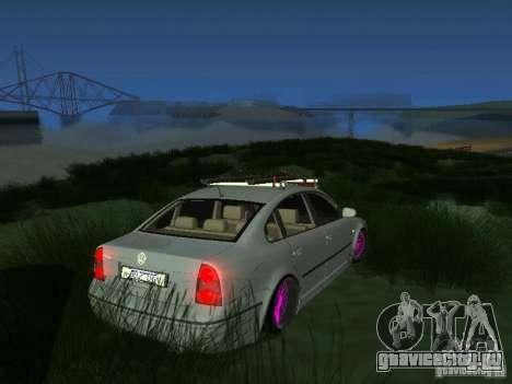 VW Passat B5 Dope для GTA San Andreas вид сзади слева