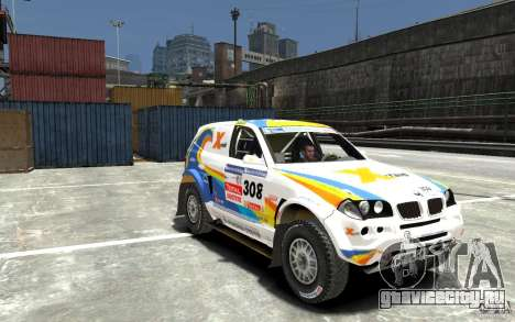 BMW X3 CC DAKAR для GTA 4 вид сзади