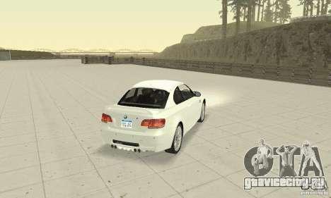 BMW M3 2008 Convertible Hamann для GTA San Andreas вид слева