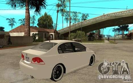 Honda Civic FD для GTA San Andreas вид справа