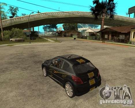 PEUGEOT 207 Griffe LANCARSPORT для GTA San Andreas вид слева