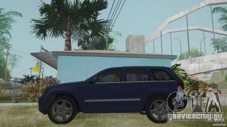 Jeep Grand Cherokee SRT8 2009 для GTA San Andreas вид сзади слева