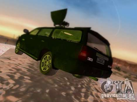 Suv Call Of Duty Modern Warfare 3 для GTA San Andreas вид справа