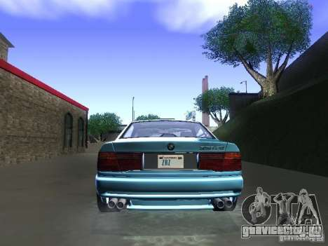 BMW 850CSi 1995 для GTA San Andreas вид сзади