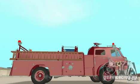American LaFrance Pumper 1960 для GTA San Andreas вид сзади