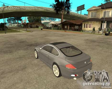 BMW 645Ci 04 для GTA San Andreas вид слева