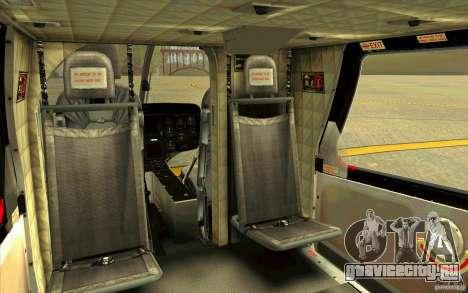 MD 902 Explorer для GTA San Andreas вид изнутри