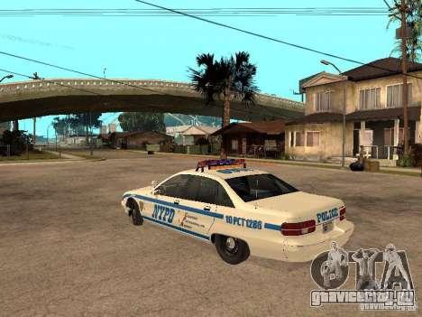 NYPD Chevrolet Caprice Marked Cruiser для GTA San Andreas вид слева