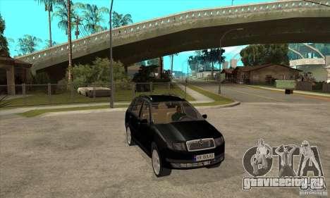Skoda Fabia Combi для GTA San Andreas вид сзади