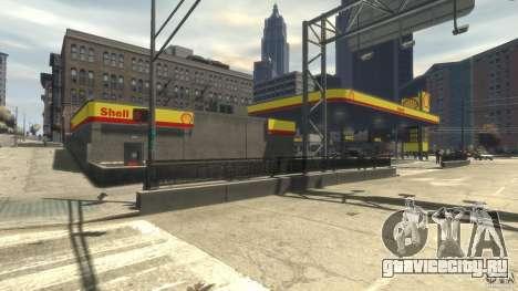 Shell Petrol Station для GTA 4 четвёртый скриншот