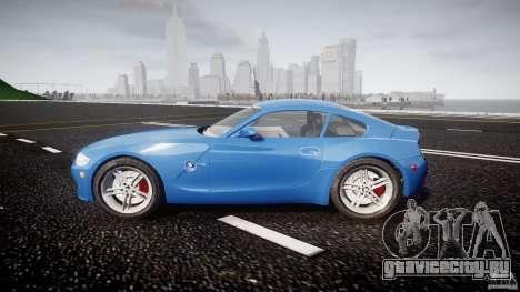 BMW Z4 Coupe v1.0 для GTA 4 вид изнутри