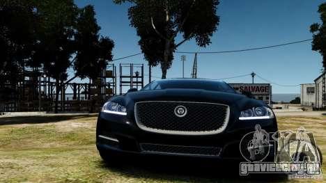 Jaguar XJ 2012 для GTA 4 вид сзади
